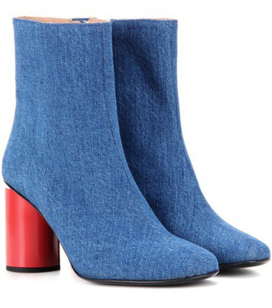 Acne Studios Althea Denim Ankle Boots in blue