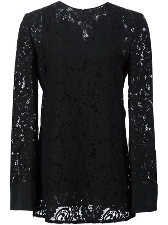 top lace top lace floral black