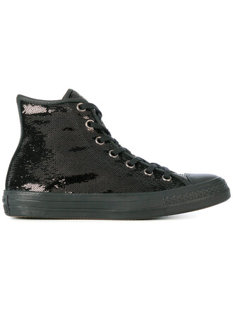 women embellished sneakers cotton black shoes