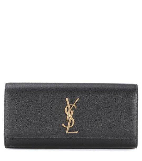 Saint Laurent leather clutch classic clutch leather black bag