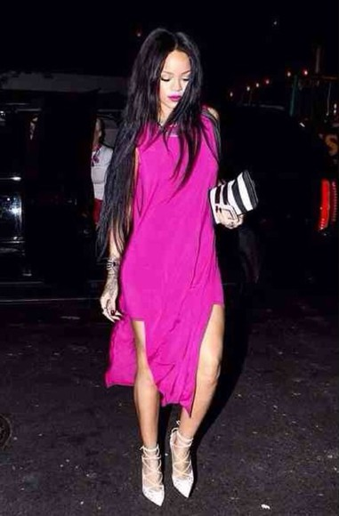 dress rihanna slit dress