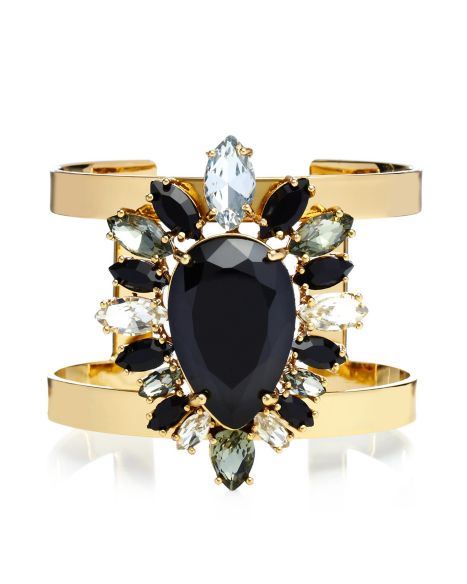 Multi Stone Cluster Drama Cuff - Jewelry - Juicy Couture