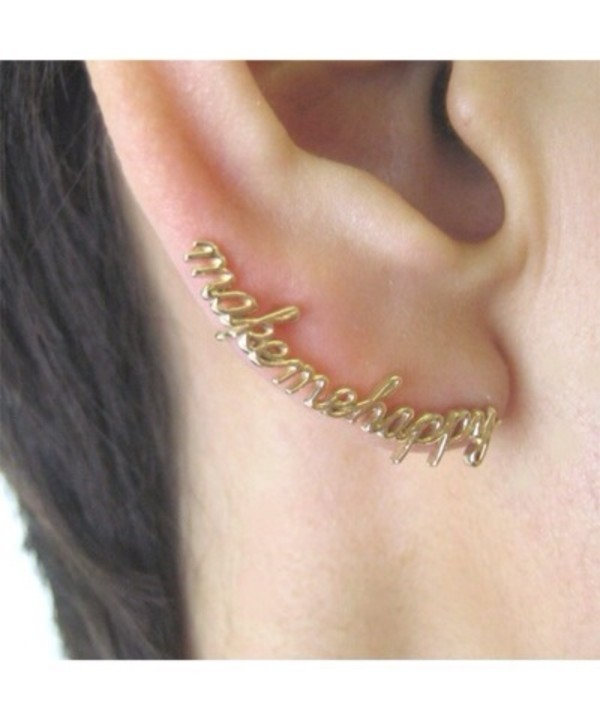 jewels happy happiness gold earrings cuff gold earrings earrings