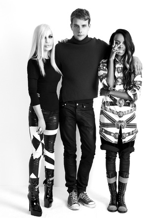 white fashion model black black and white dope trill versace versace style angel haze donatella chuck taylor all stars sneakers heels booties shoes fashion fashion fashion magazine african american
