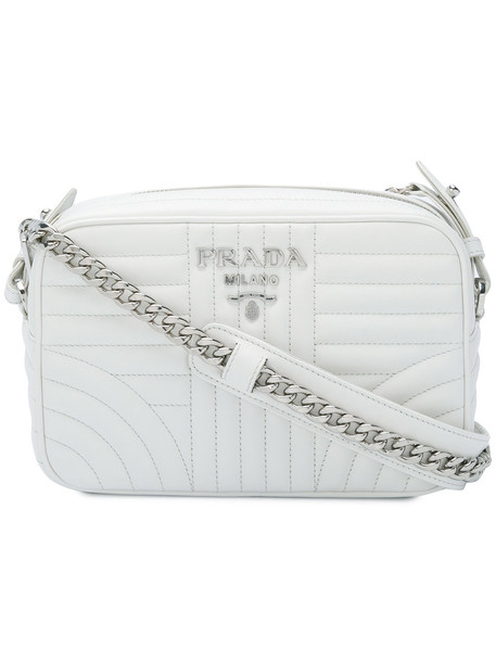 Prada women bag leather white