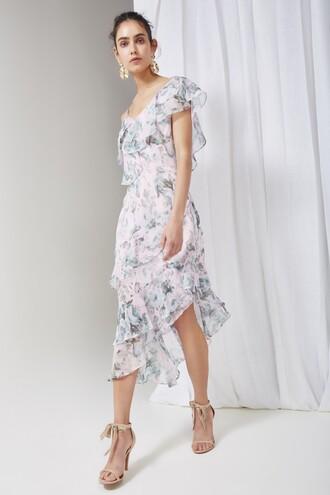 dress midi dress rose sweet midi love