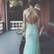 Custom made a line open back prom dresses, backless prom dresses