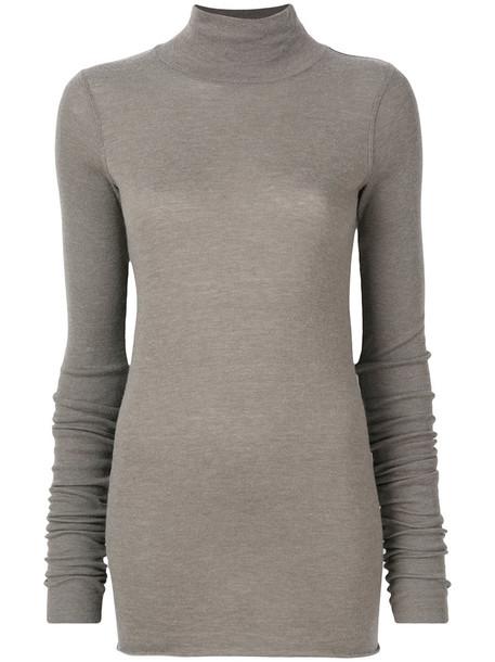 Rick Owens Lilies sweater turtleneck turtleneck sweater women wool grey
