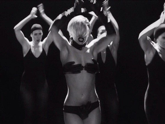 lady gaga underwear bra hands