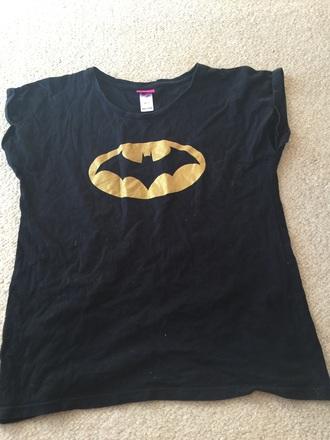 shirt black batman girl clothes