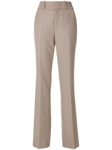 high women spandex nude wool pants