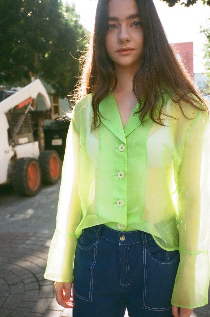 Jasmine Blazer - Neon Green