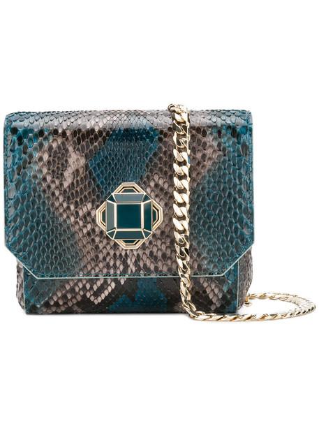 Elie Saab women bag shoulder bag leather blue