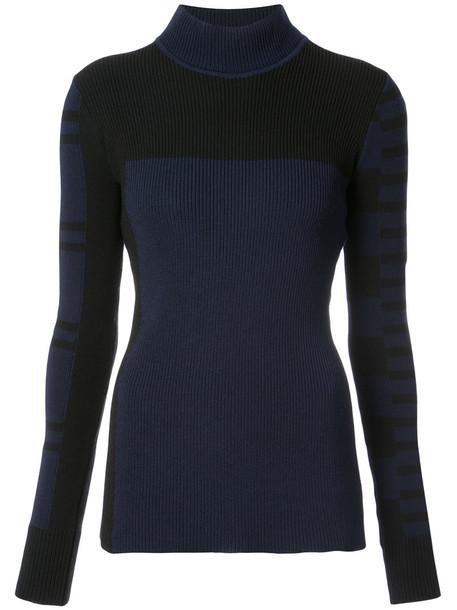 BARBARA BUI sweater patterned sweater women black wool