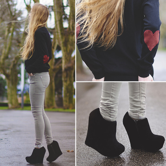 Choies Sweater, Topshop Pants, Steve Madden Wedges - CRASH INTO YOU - TIPHAINE  P | LOOKBOOK