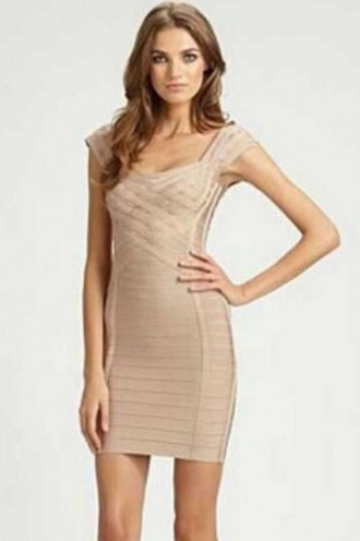 dress nude wots-hot-right-now bandage dress braided sexy dress evening dress celebrity style party dress nude bandage dress