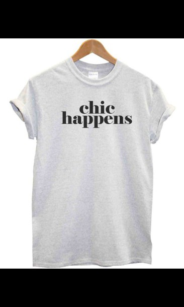 shirt chic grey quote on it need it now peri.marie