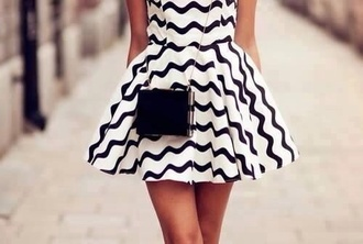 dress striped dress stripes a line dress