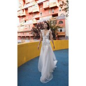 dress,sleeveless,a-line wedding dresses,outdoors,melanie martinez cute pastel blue nighty lace