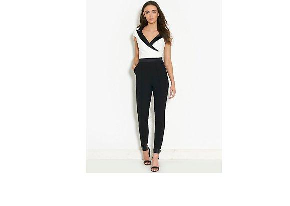 Lipsy Kardashian Kollection Tuxedo Jumpsuit - BANK Fashion
