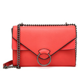 bag,jc unique,crossbody bag,sling bag,leather,faux fur,red
