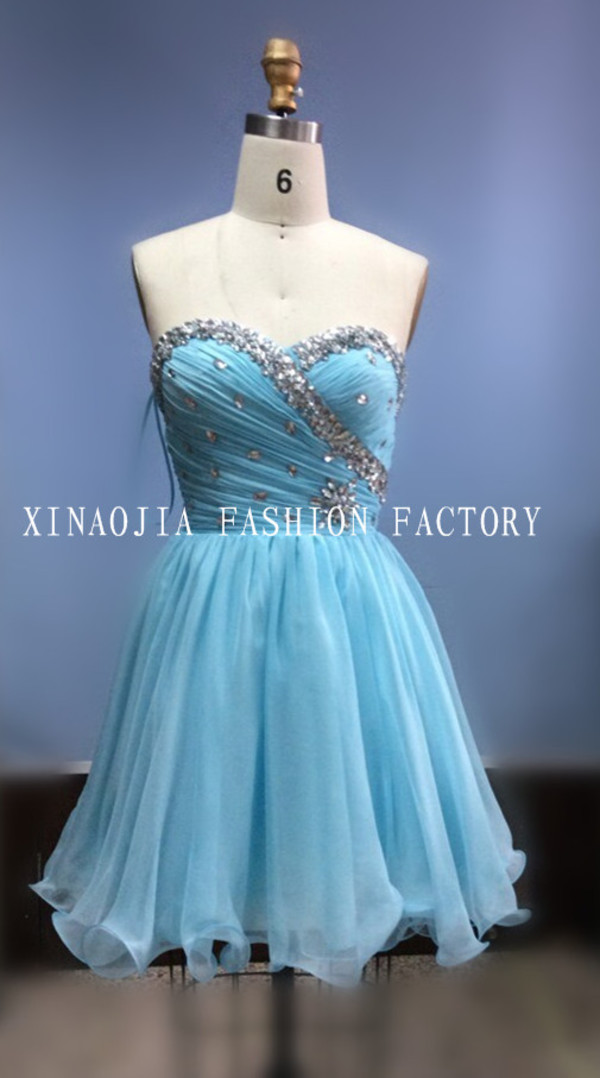 blue dress prom dress cocktail dress sweetheart dresses 2014