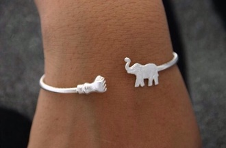 jewels brazelet elephant hand simple