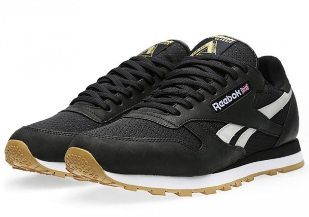 shoes Reebok black sneakers trainers white gold fashion 9291ce19357d