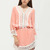Pink Contrast Lace Hem Dress -SheIn(Sheinside)