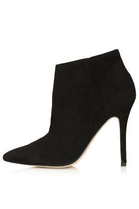 Aloof Black Leather Boots - Topshop