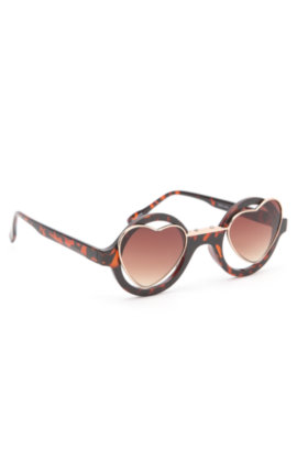 With Love From CA Round With Hearts Sunglasses at PacSun.com