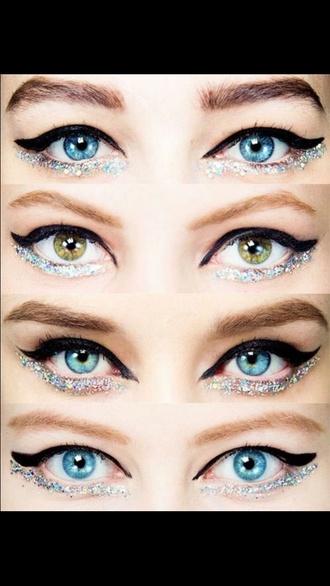 make-up glittery-eyeliner-stuff