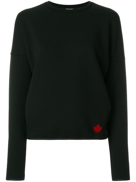 sweatshirt women spandex black sweater