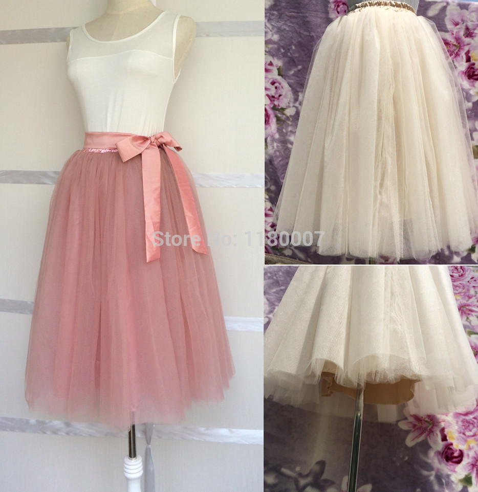11500b37f Aliexpress.com : Buy Custom made Princess Puffy Tutu Tulle Skirt Adult 6  layers All Colors Prom Gown Bridesmaid Wedding Party ...