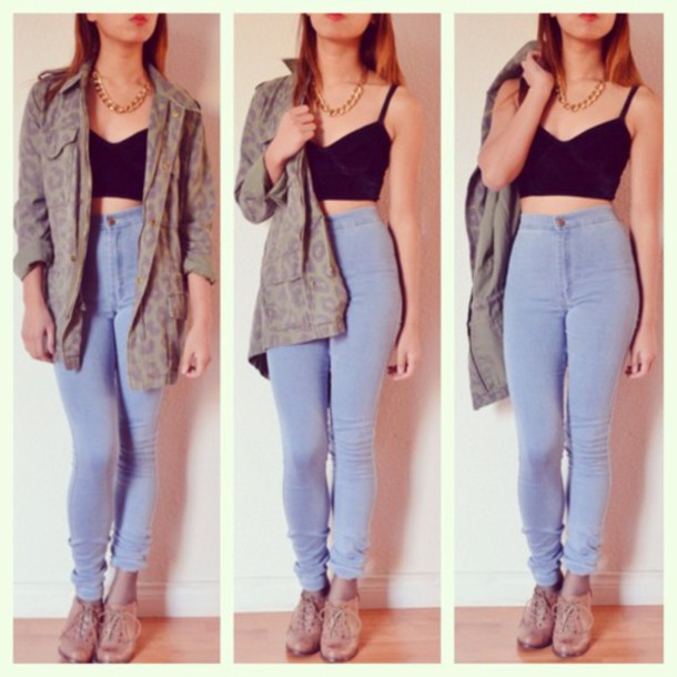 jeans pants high waisted jeans jacket shoes