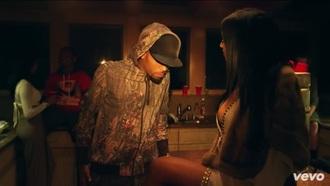 jacket chris brown music video