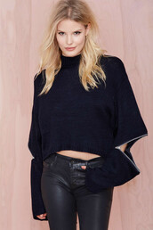 top,black,nastygal,nastygal fall,fall top,black fall top,black sweater,black zippers,zipper sweater,zippered sweater,hollow out,cuttted,brand,cute,black pullover,knitwear,knitted sweater,fashion,sexy,casual,women,turtleneck,black top,hollow sweater,hollow,black leather,ng,blouse,28719,sweater