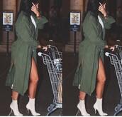 coat,olive green,kylie jenner