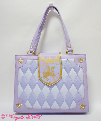 bag purple lavender unicorn quilted quilted bag