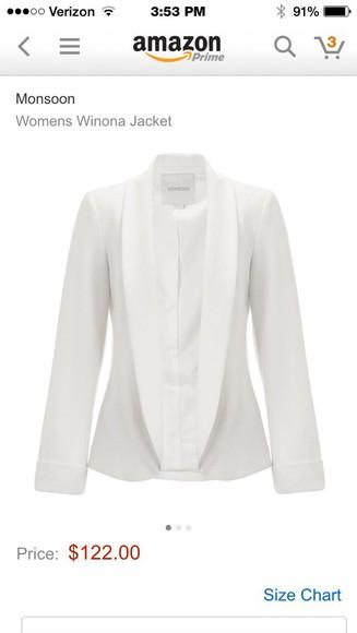 jacket ivory bridal