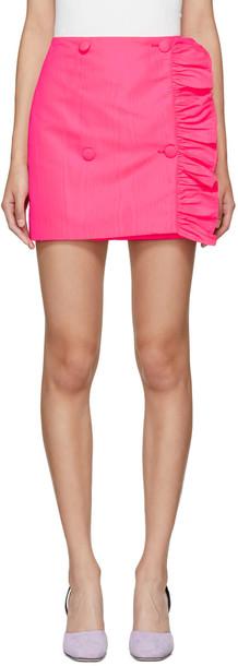 miniskirt pink skirt