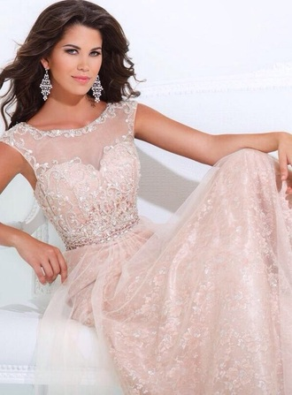 dress prom dress pink long dress long prom dress beautiful light pink light pink dress