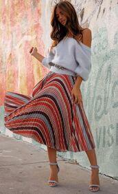 skirt,plaid,plaid skirt,sandal heels,rocky barnes,instagram,sweater,blogger,blogger style