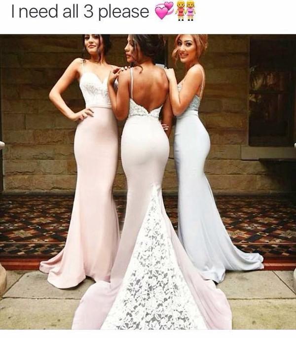 dress prom dress long train dress backless prom dress purple dress pink dress