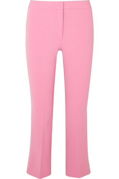 Theory - Admiral cropped stretch-crepe straight-leg pants
