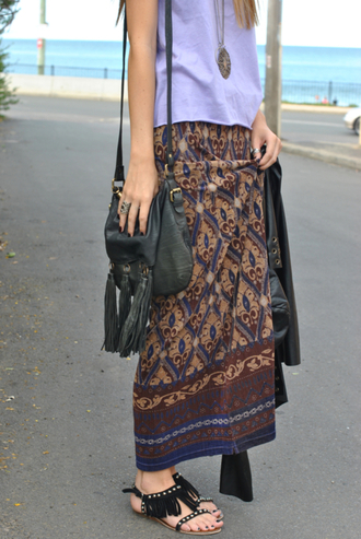 shoes print maxi skirt indian