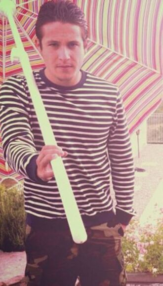 sweater nekfeu stripes mariniere striped sweater