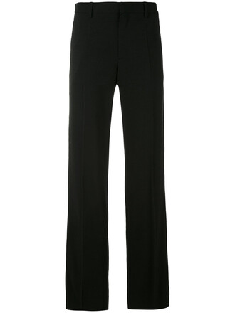 women spandex black silk pants