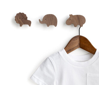 home accessory animal kids room hanger lion elephant