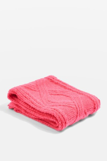 Topshop scarf knitted scarf pink